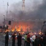 بالصور: عصابات داعش تحرق مسجدًا للشيعة في مدينة إسطنبول