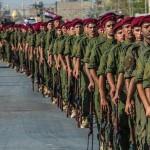 استعراض عسكري لقوات النخبة الخاصة بفرقة العباس(ع) القتالية بمناسبة تخرّج دورتهم الأولى