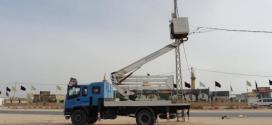 كهرباء النجف الأشرف تجهّز المواكب الحسينية بالطاقة الكهربائية على مدار (24) ساعة