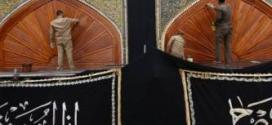 شعبة النجارة في العتبة العلوية المقدسة تعيد طلاء عدد من الشبابيك والأبواب الخشبية للحرم الطاهر