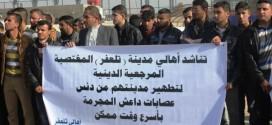 نازحون من تلعفر يتظاهرون في النجف للمطالبة بتسليحهم لتحرير ديارهم
