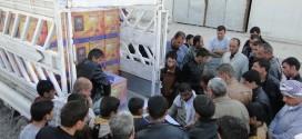 مؤسسة اليتيم الخيرية توزع مدافئ وبطانيات على العوائل النازحة في النجف(مصور)